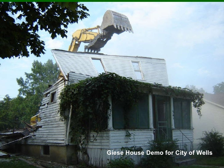 Giese House Demo for City of Wells