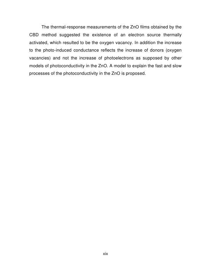 Photoconductivity thesis