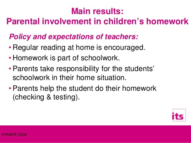 Dissertation parent involvement in homework
