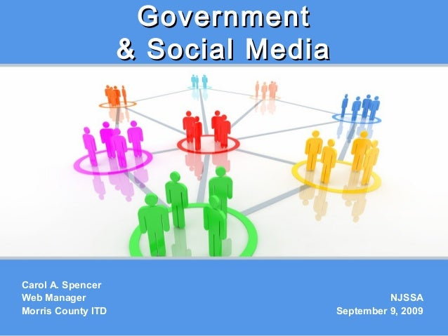 2009: NJSSA: Government & Social Media
