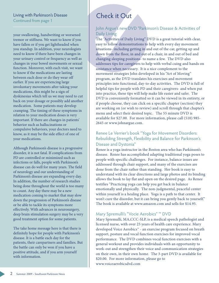 Parkinsons Disease Essays (Examples)