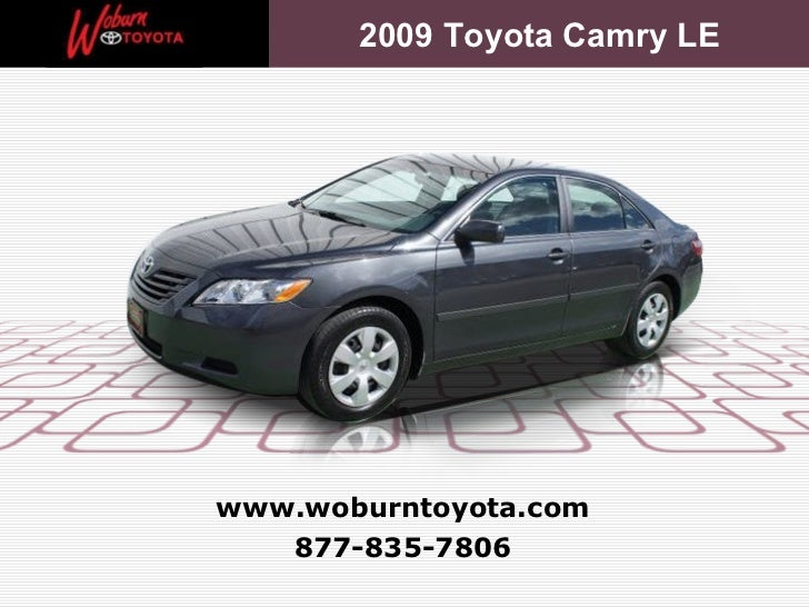 Boston - Used 2009 Toyota Camry LE