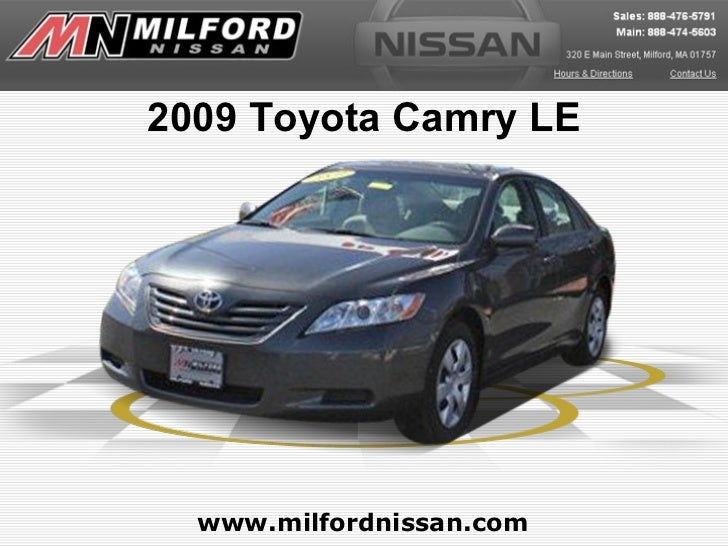 Used 2009 Toyota Camry LE - Milford Nissan Worcester, MA