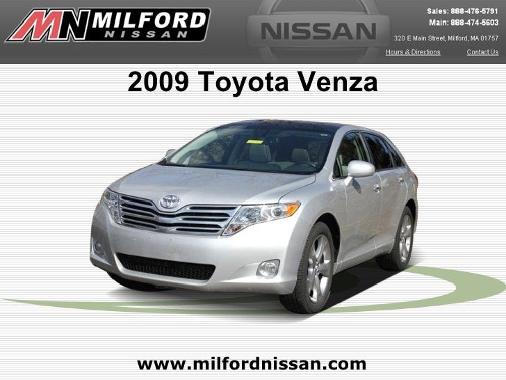 Used 2009 Toyota Venza - Milford Nissan Worcester, MA