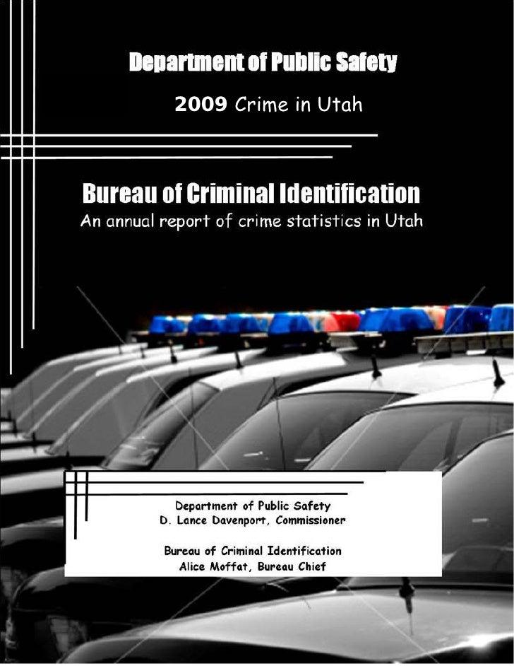 2009 Crime in Utah