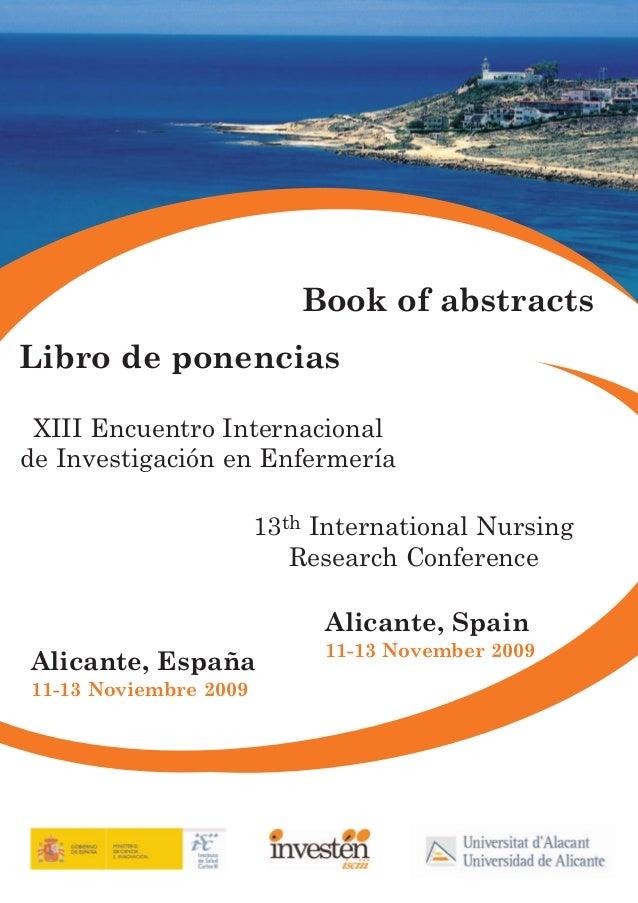 Libro de ponencias XIII Encuentro (Alicante 2009)
