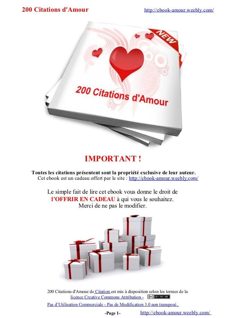 200 Citations d'amour