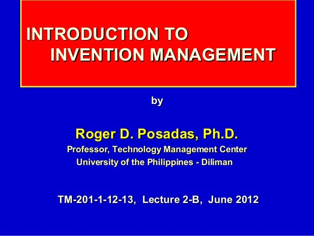 201 2-b intro-invention_management