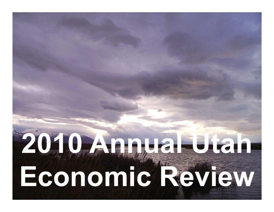 2010 Annual Utah Economic Review