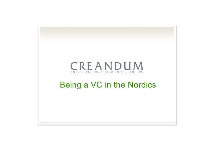 2010 01 13 Creandum Nordic Exit Analysis