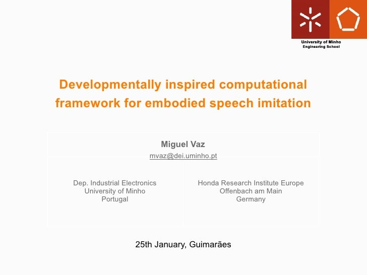 2010.01.25 - Developmentally inspired computational framework for embodied speech imitation