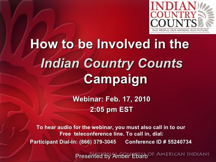 How to be Involved in the Indian Country Counts Campaign