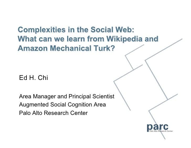 2010-02-22 Wikipedia MTurk Research talk given in Taiwan's Academica Sinica