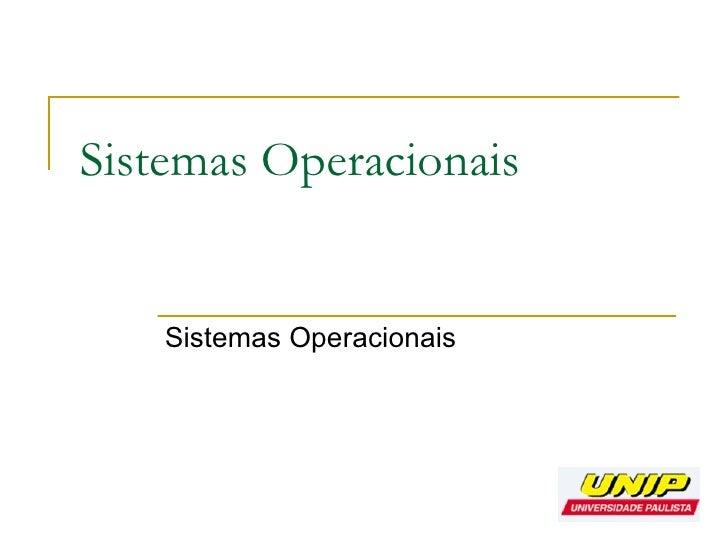 2010 03 05 Sistemas Operacionais Aula2
