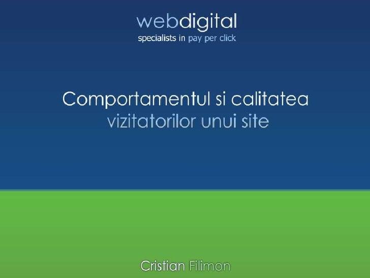 2010.03.09 Cristian FILIMON - Comportamentul si calitatea vizitatorilor unui site