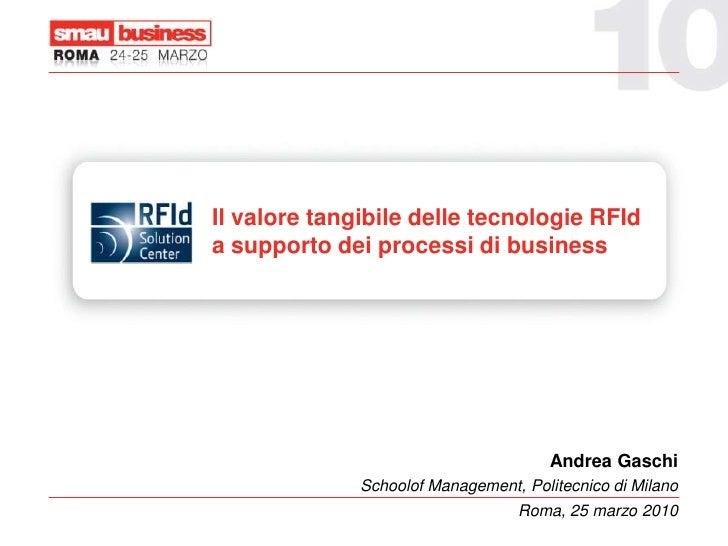 Il valore tangibile delle applicazioni RFId a supporto dei processi di business