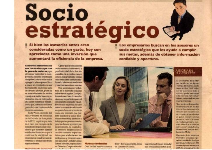 Socio estratégico, asesoría en el e-commerce