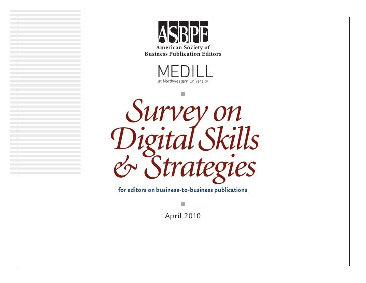 Survey on Digital Skills & Strategies