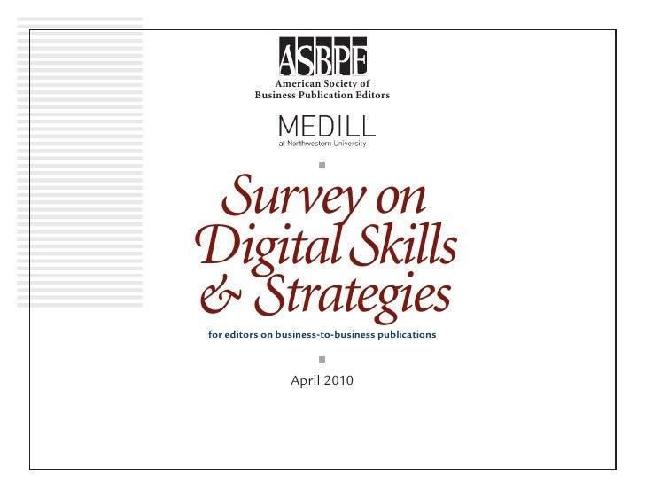 Survey on Digital Skills & Strategies