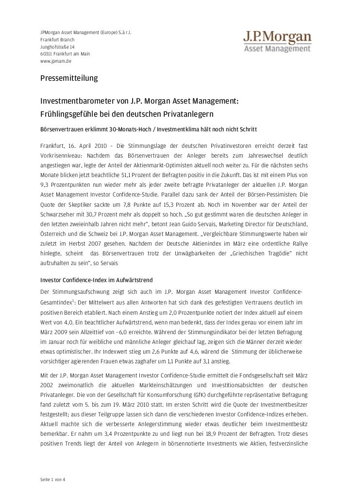 JPMorgan Asset Management (Europe) S.à r.l.Frankfurt BranchJunghofstraße 1460311 Frankfurt am Mainwww.jpmam.dePressemittei...