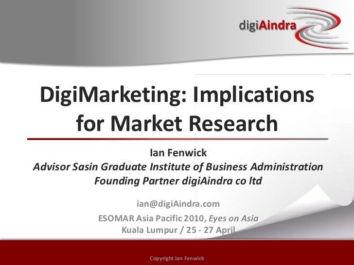 Digital Marketing (DigiMarketing) & Market Research