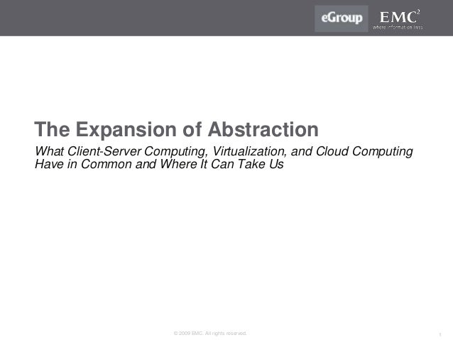 The Expansion of Abstraction