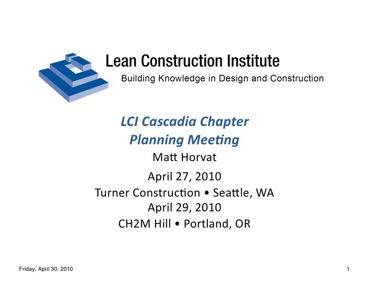 LCI  Cascadia  Chapter                                 Planning  Mee4ng                                       Ma8  ...