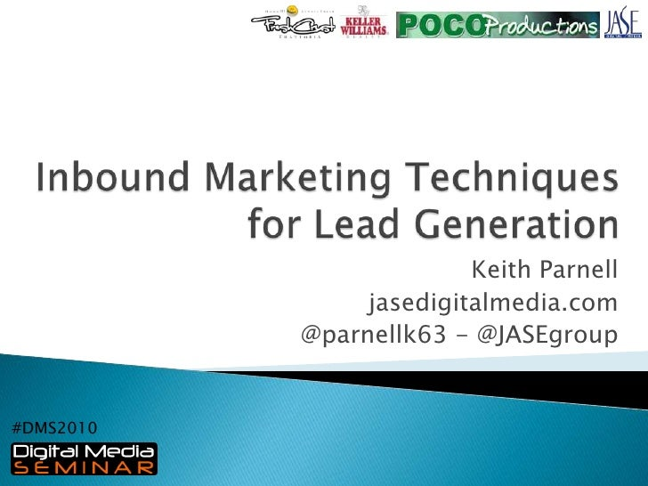 Inbound Marketing Techniques for Lead Generation