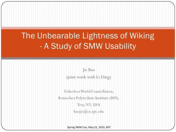 The Unbearable Lightness of Wiking