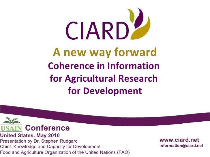 2010-05 CIARD Detailed Presentation - English