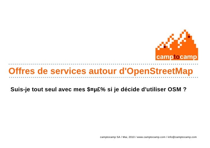 OpenStreetMap : Support Commercial