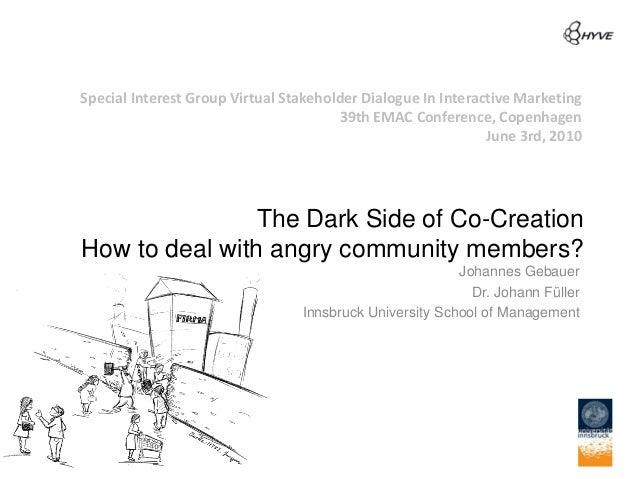 Special Interest Group Virtual Stakeholder Dialogue In Interactive Marketing                                       39th EM...