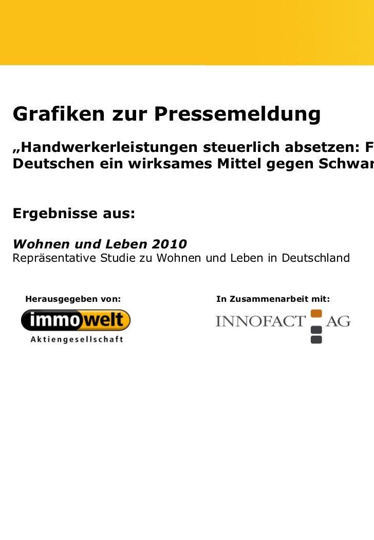 """Grafiken zur Pressemeldung""""Handwerkerleistungen steuerlich absetzen: Für die meistenDeutschen ein wirksames Mittel gegen S..."""