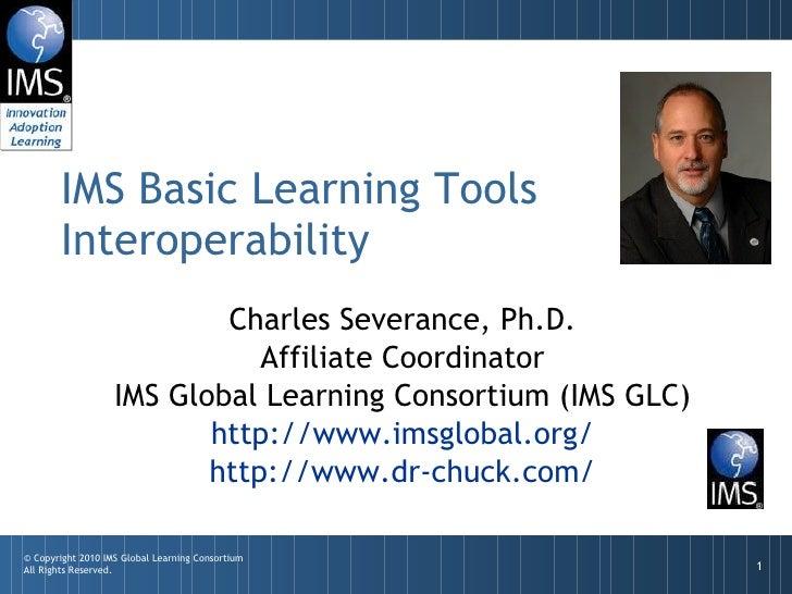IMS Basic Learning Tools Interoperability