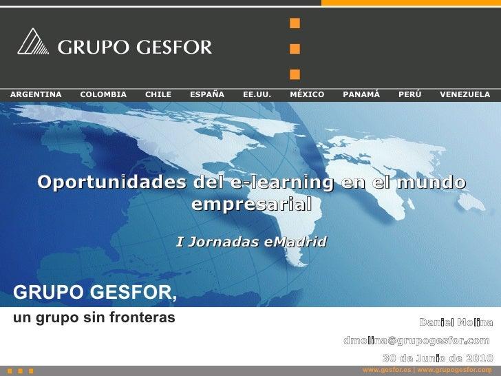 2010-06-30 (UC3M) daniel molina gesfor I jornadas eMadrid