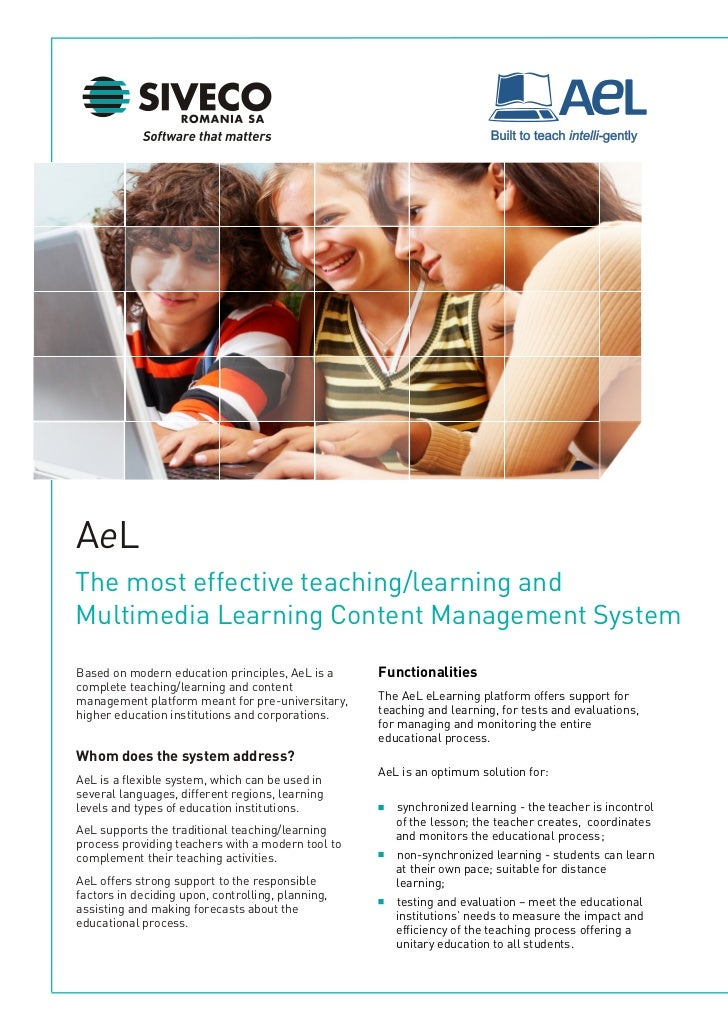 The most effective teaching/learning and  Multimedia Content Management System