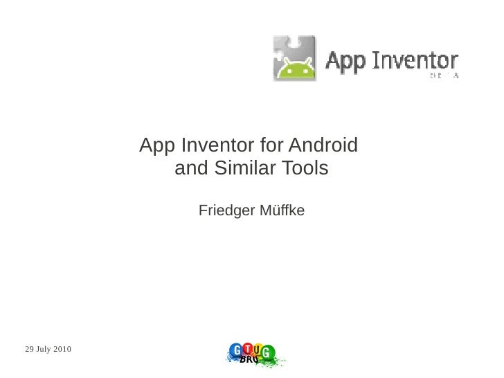 App inventor for android and similar tools