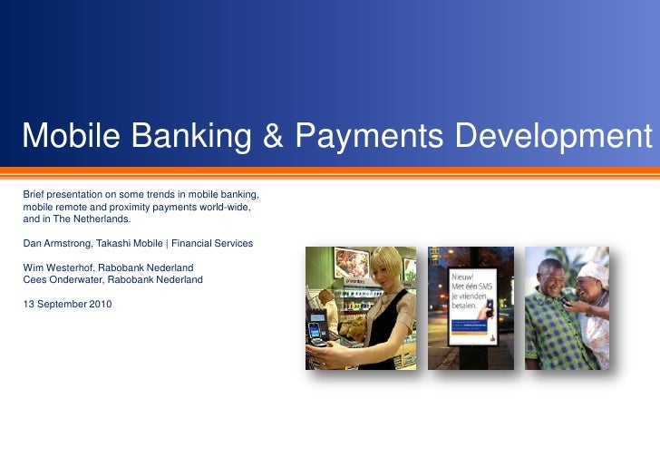 Mobile Banking & Payments Update: September 2010