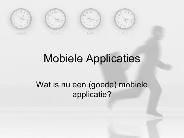 2010-09-27 - HU Minor Mobile Business Design - Mobile Applications