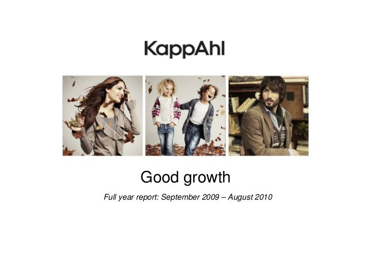 Good growthFull year report: September 2009 – August 2010