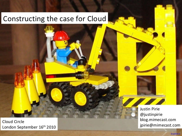 Constructing the Case for Cloud