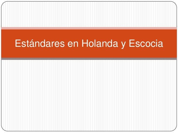 Estandardes curriculares (Educational standards, presentation is in Spanish)