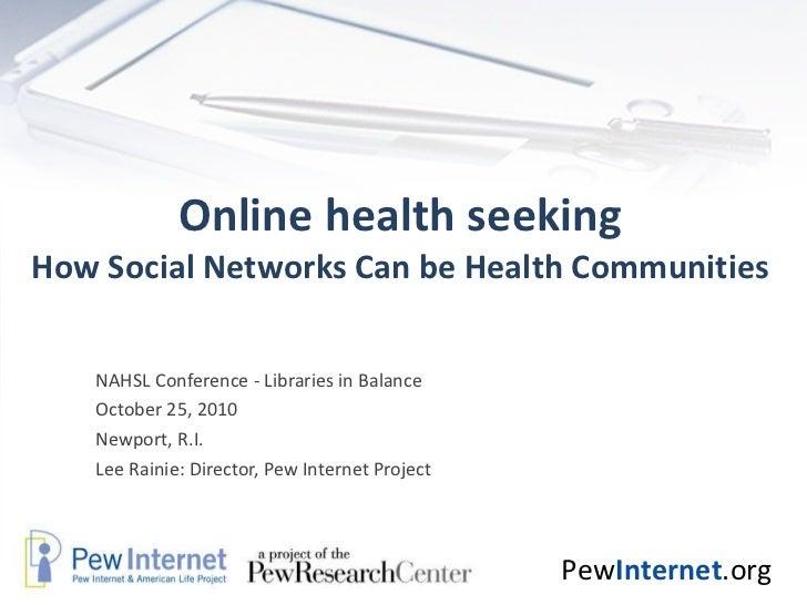 Online health seeking