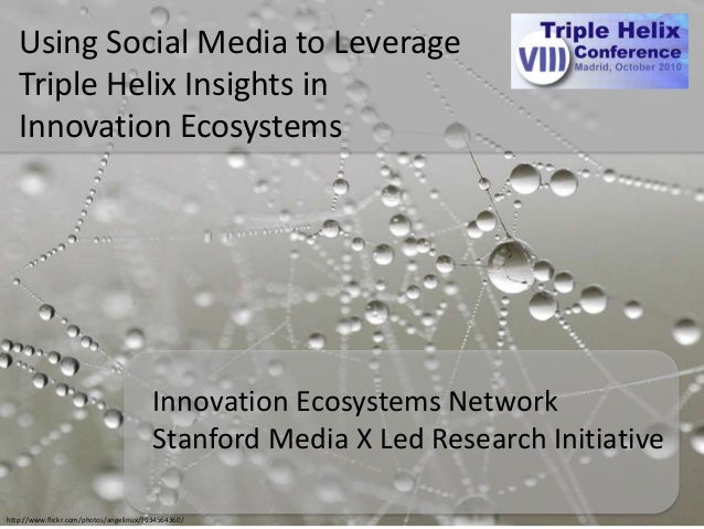http://www.flickr.com/photos/angelinux/3034564360/ Using Social Media to Leverage Triple Helix Insights in Innovation Ecos...