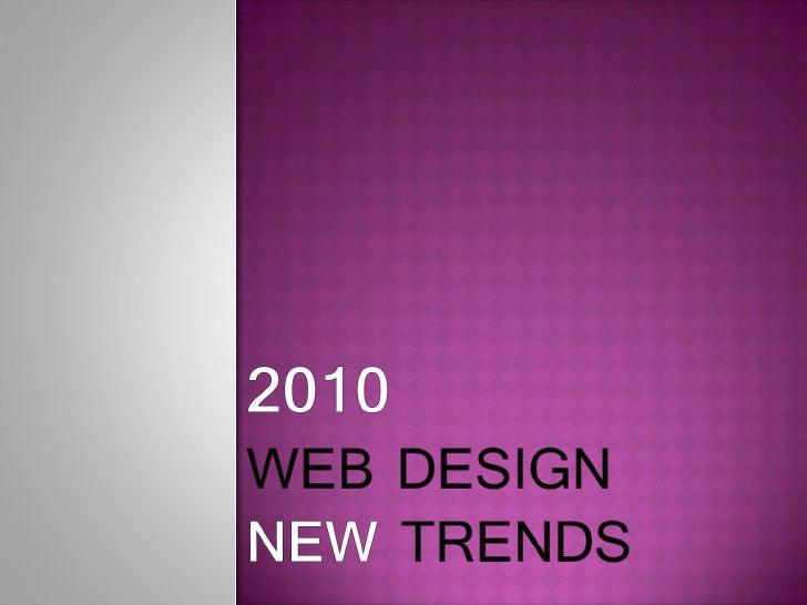 2010 webdesign trends