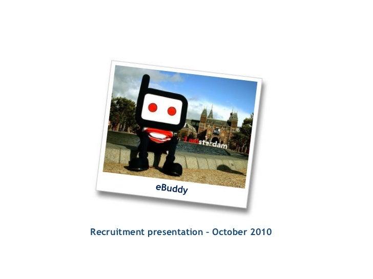 eBuddy corporate recruitment presentation