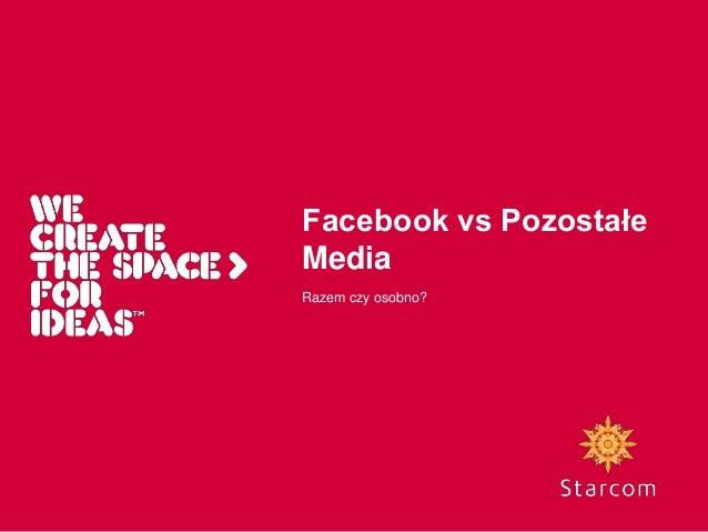2010.10 Filip Beznicki - Wykorzystanie Facebooka w kampaniach cross-mediowych. Facebook vs Inne Media - Dwa Światy, czy naczynia połączone. Wnioski dla reklamodawców