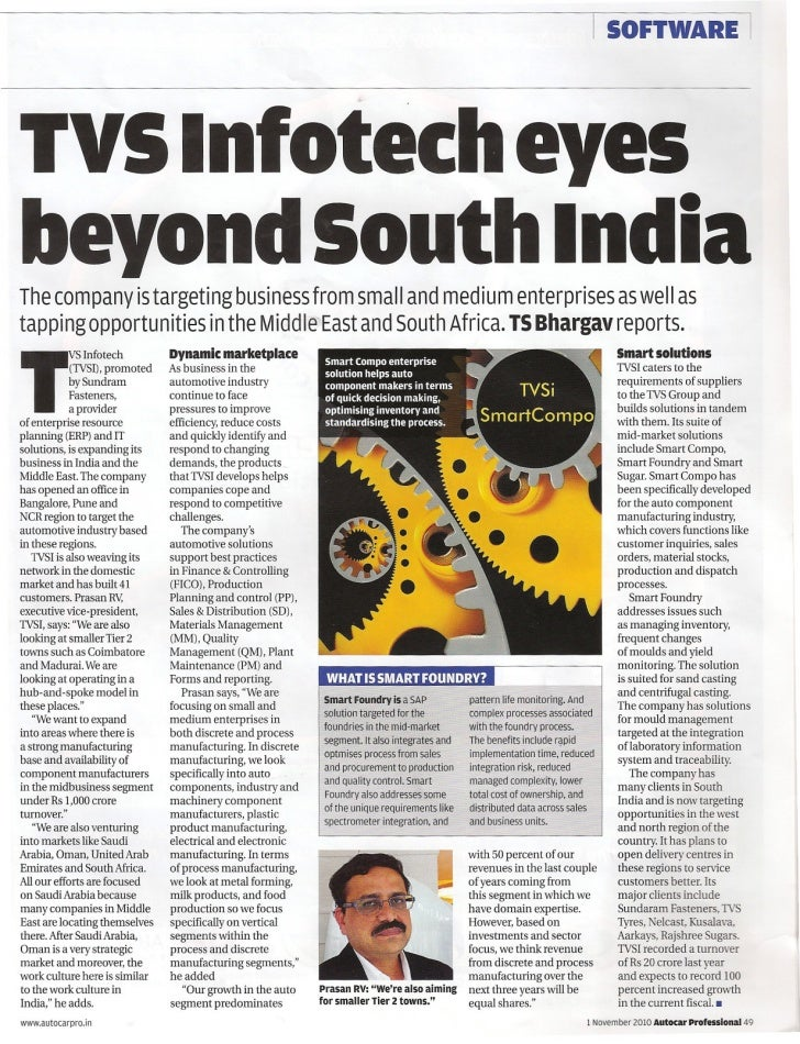 I   SOFTWARE                           ITVS Intotech eyesbeyond South IndiaThe company is targeting business from small an...