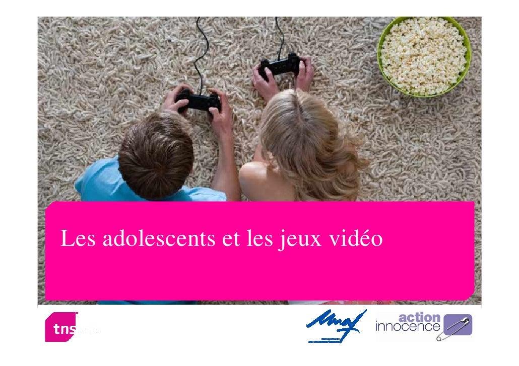 Les adolescents et les jeux vidéos