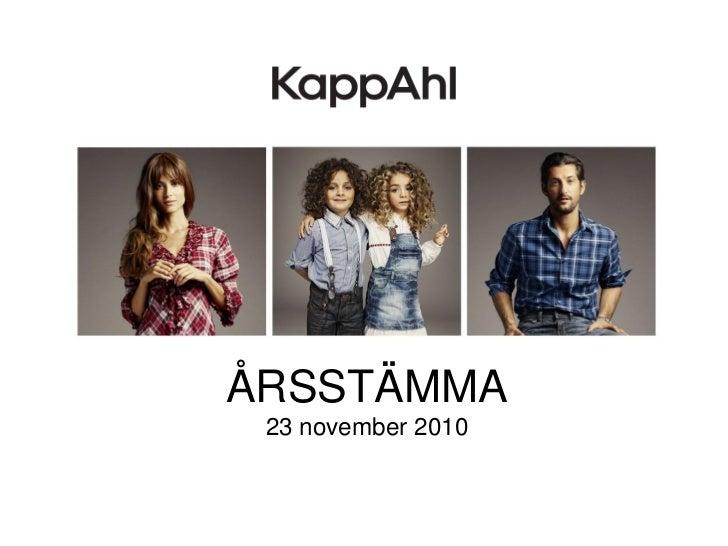 ÅRSSTÄMMA 23 november 2010